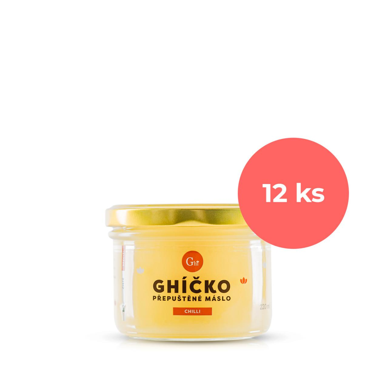Ghí přepuštěné máslo 220ml speciál chilli - karton 12ks