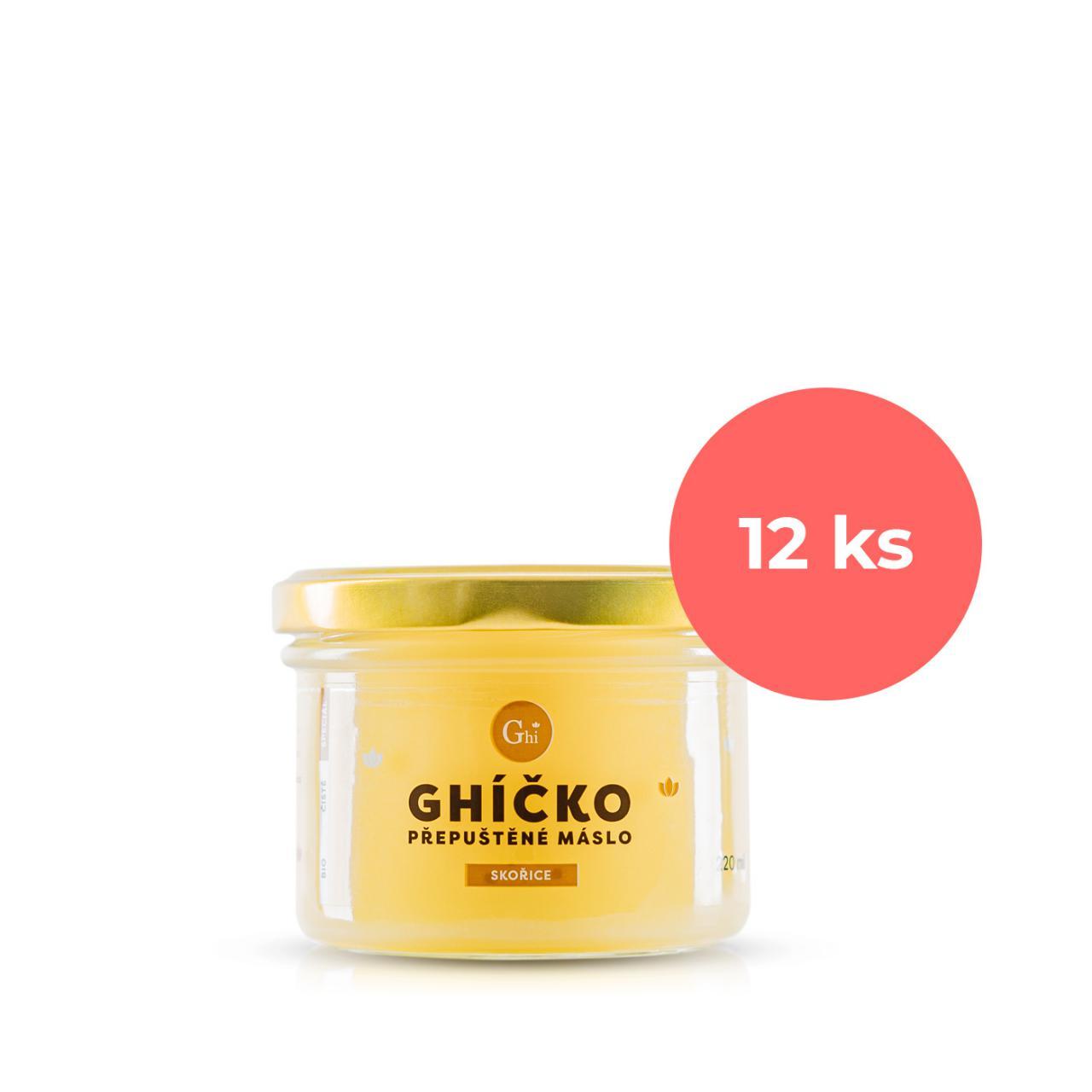 Ghí přepuštěné máslo 220ml speciál skořice s vanilkou - karton 12ks