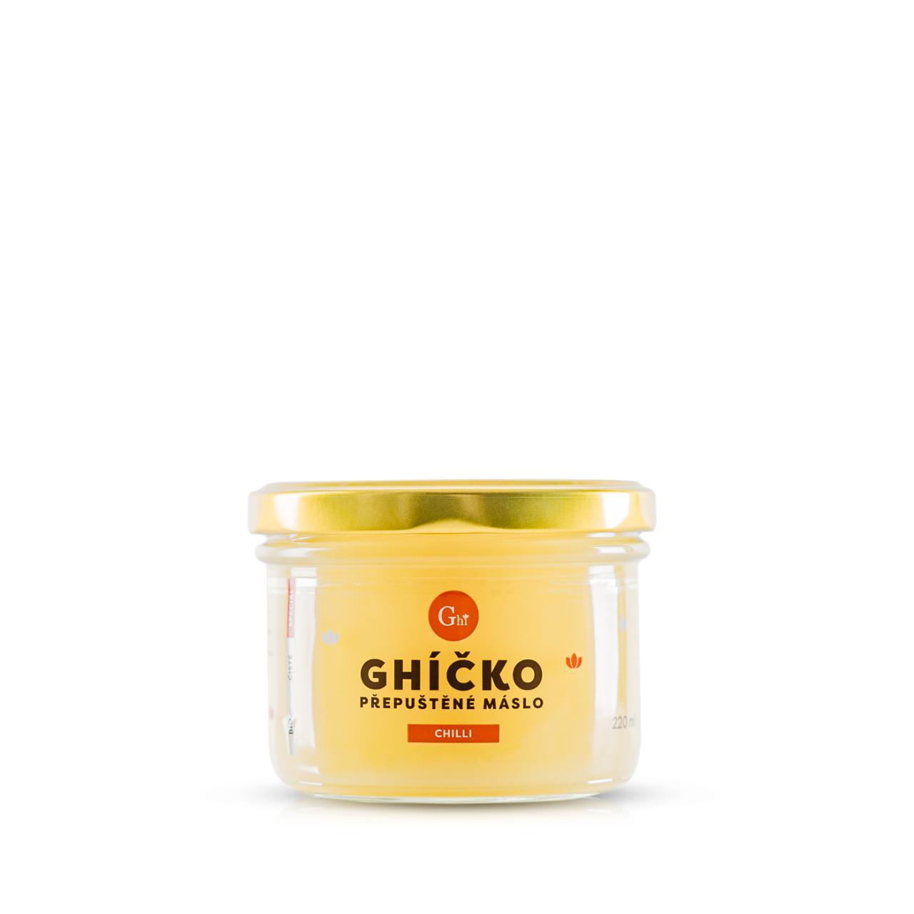 Ghí přepuštěné máslo 220ml speciál chilli