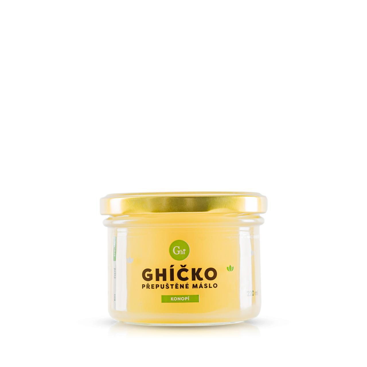 Ghí přepuštěné máslo 220ml speciál konopí
