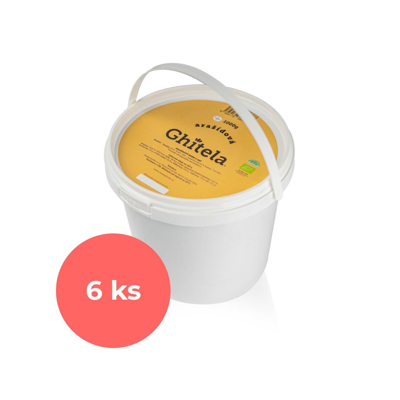 Ghitela® 1000g arašídová BIO - karton 6ks