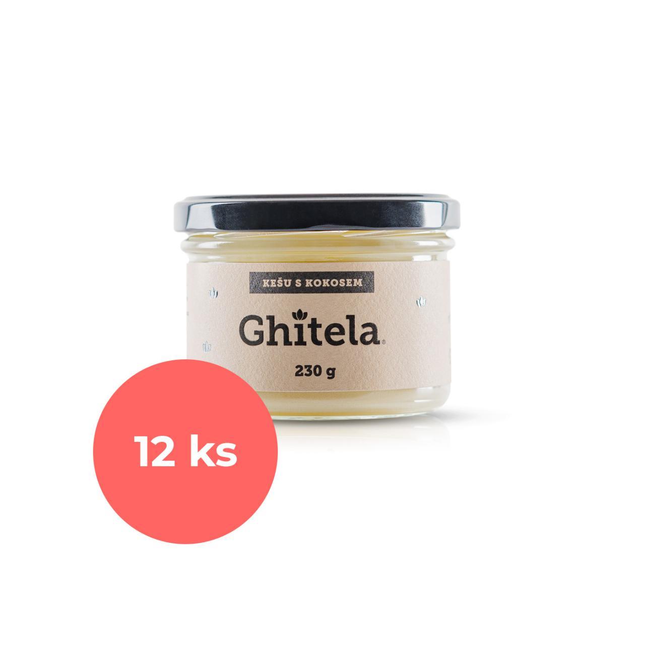 Ghitela® 230g kešu & kokos - karton 12ks